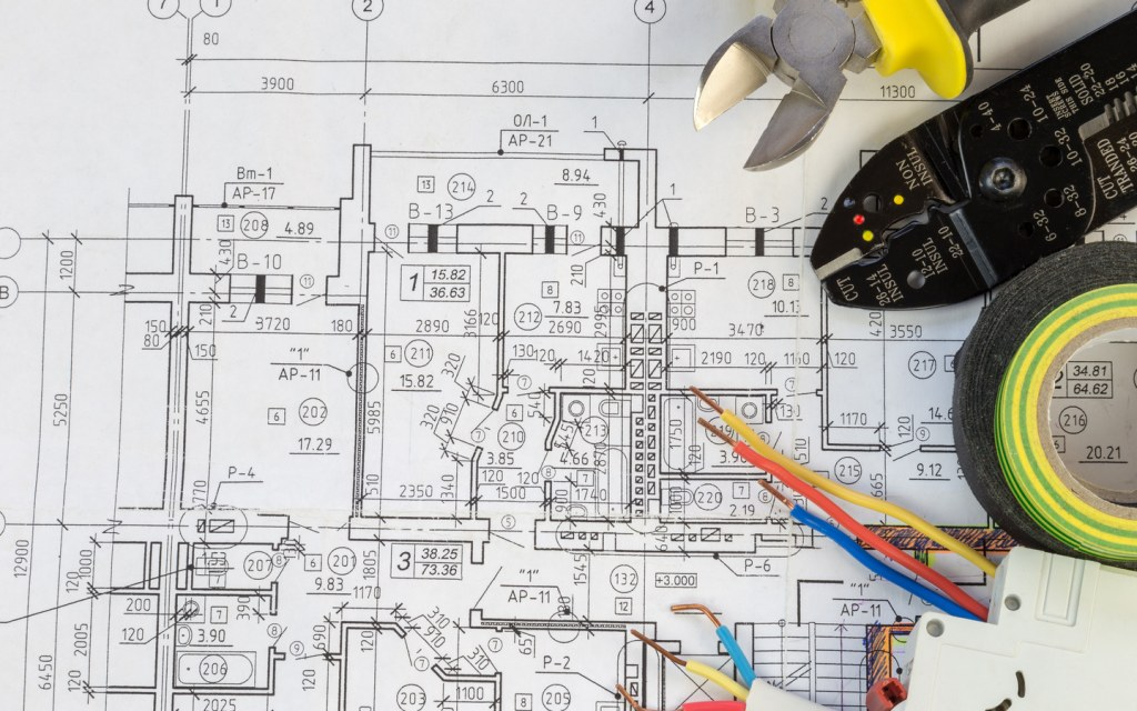 A house electrical wiring plan