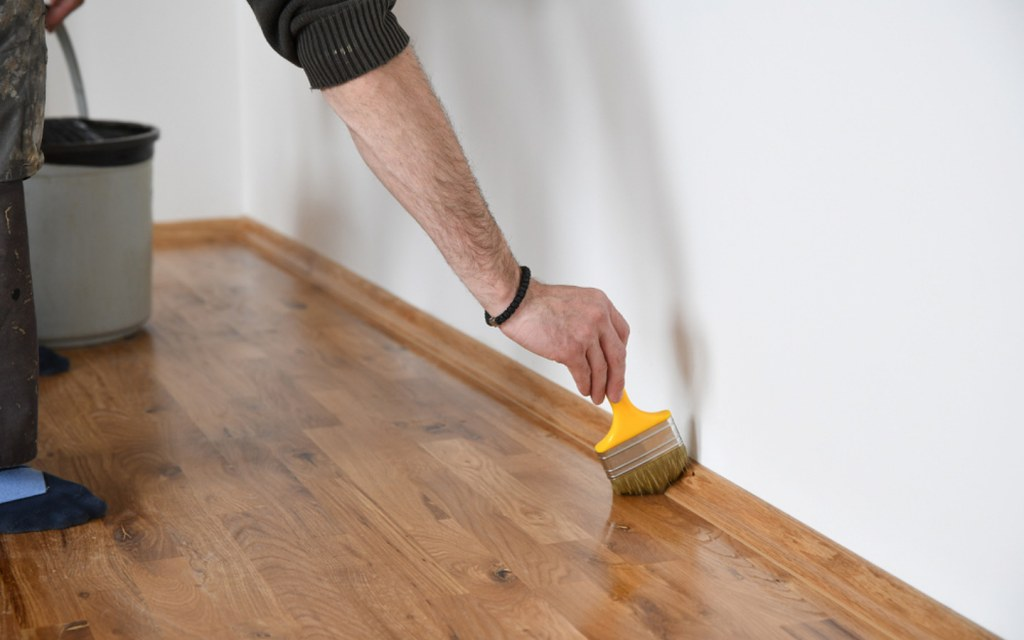 Polish wooden flooring