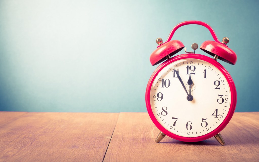 set an alarm while decluttering your store room