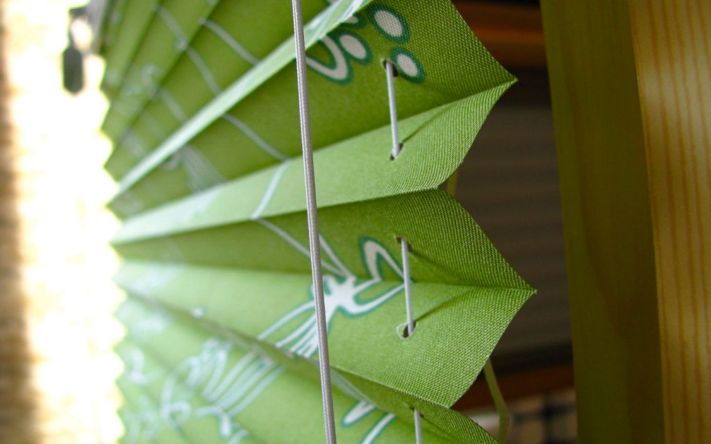 Pleated Blinds are made from both paper and fabric