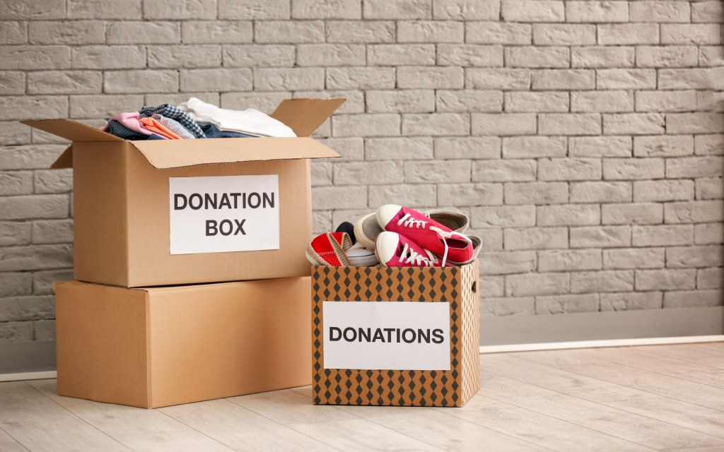 Create more storage space in your home by donating things
