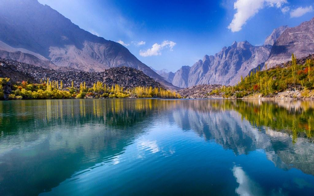 Upper Kachura Lake is beautiful in the spring