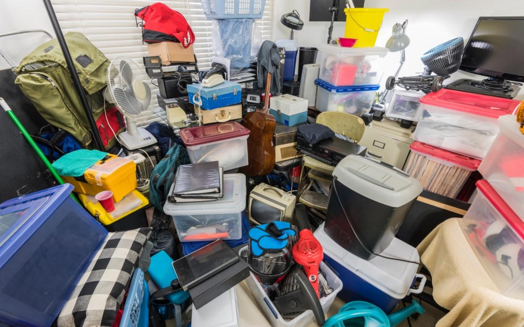how to clean out a room full of junk