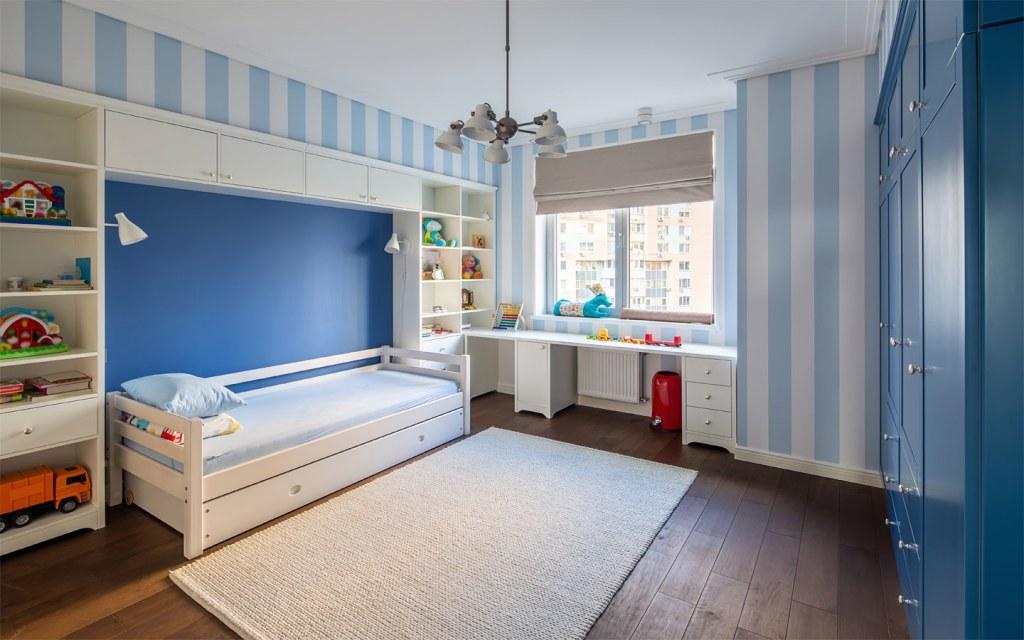 Neutral colour scheme for a kids bedroom