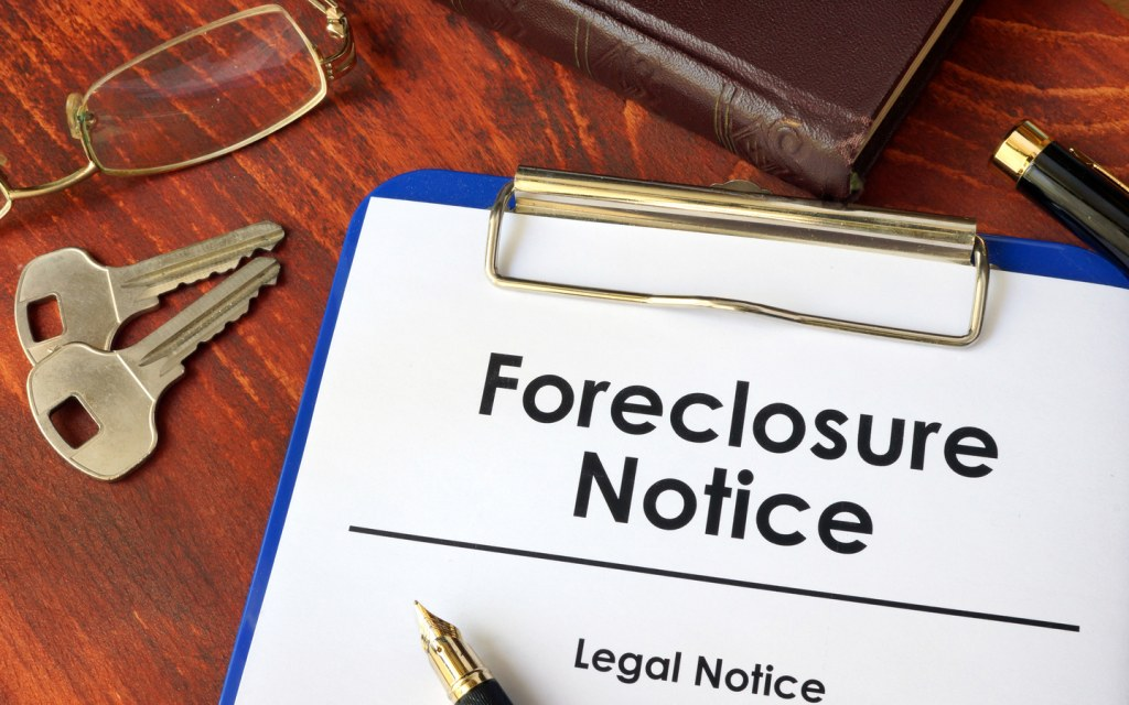A foreclosure notice enables legal action against loan defaulters