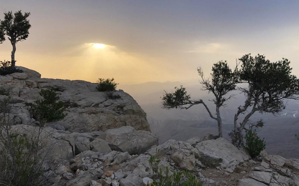 tourist spot of Gorakh Hills in Sindh