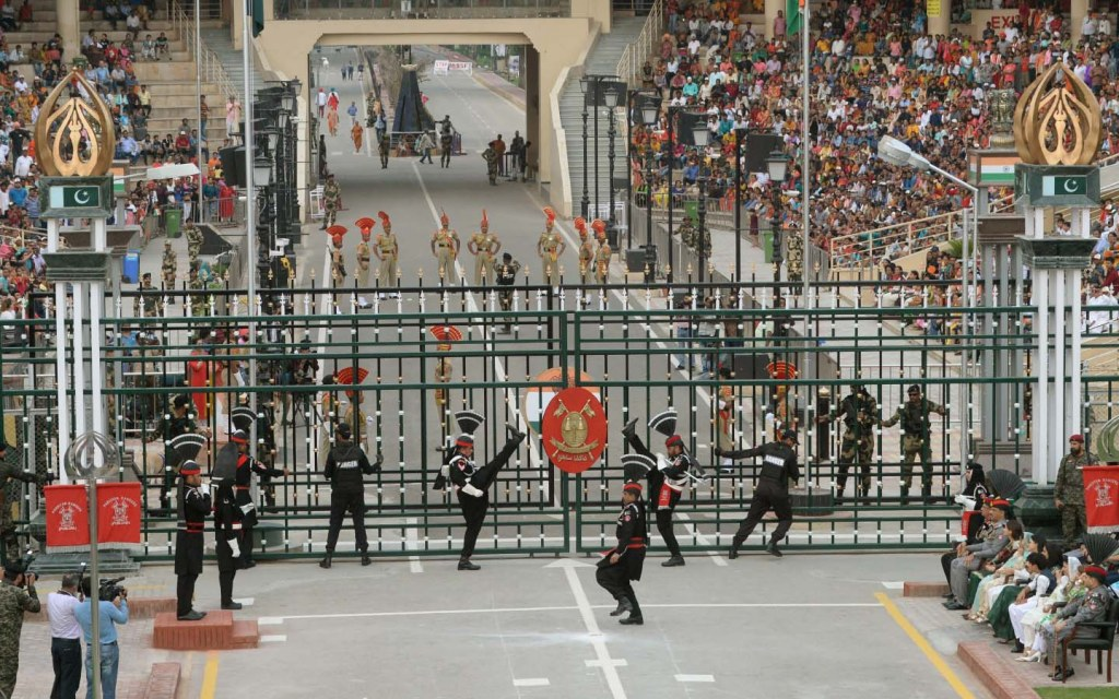 Wagah Border flag-lowering ceremony