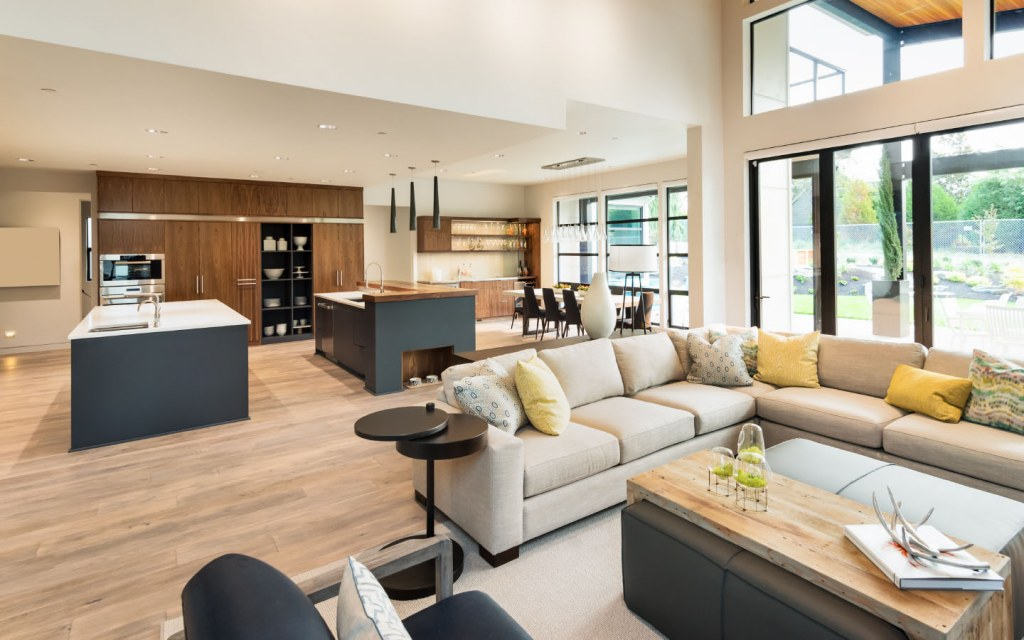 Go for open floor plans if you want to build your dream home