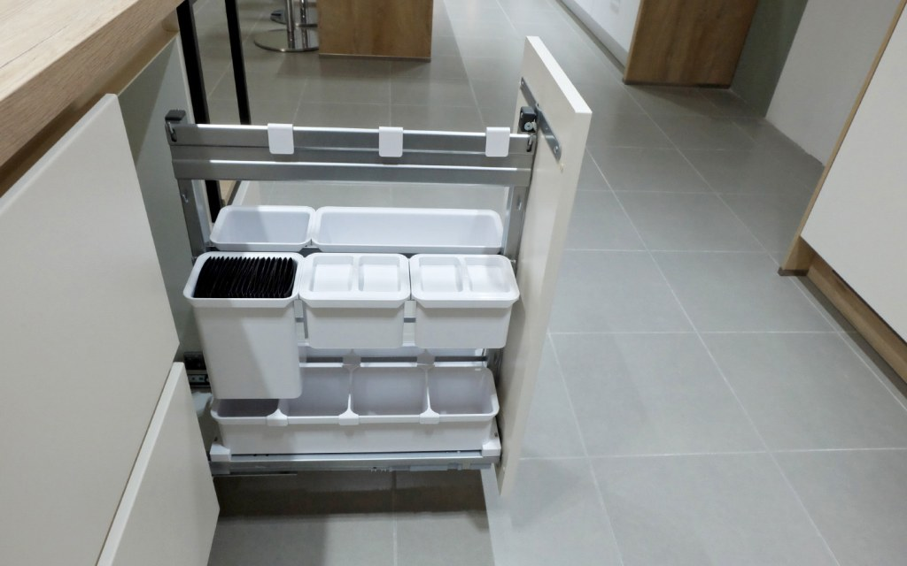 Have built in pull out cabinets to add more storage space in your kitchen
