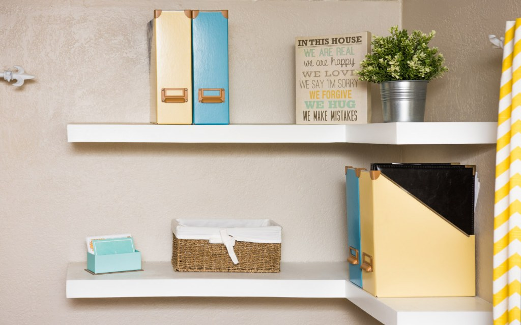 Custom design your shelves to fit them into empty corners