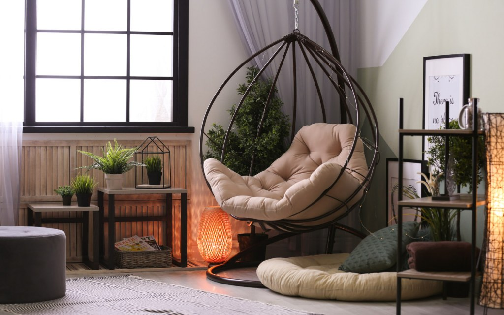 Create comfy seating if you have sufficient floor space