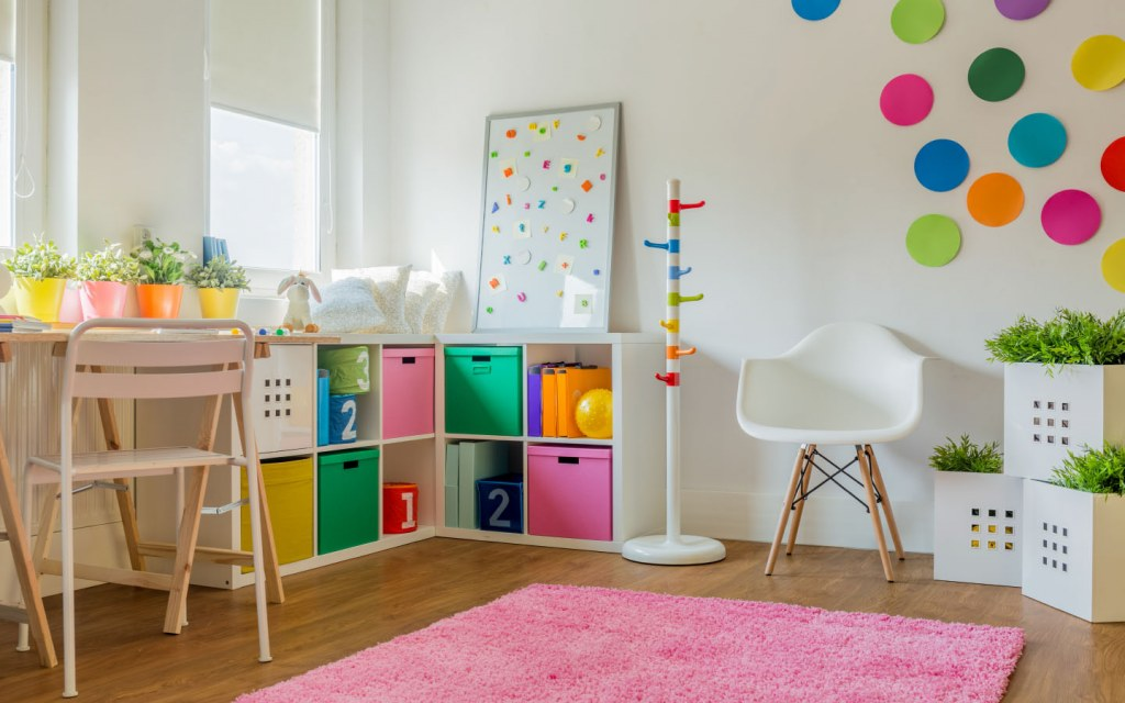 A small play area can help you bond with your kids while you work