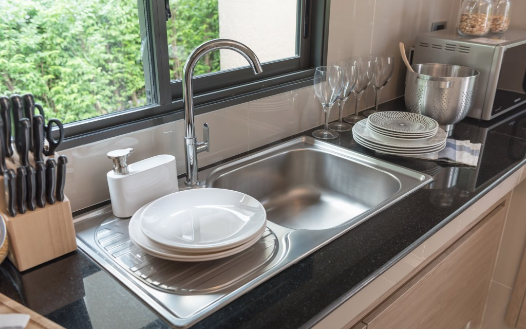 stainless steel kitchen sink is an affordable option