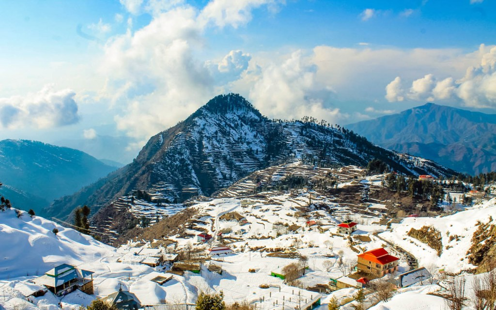 View of Malam Jabba in Swat Valley