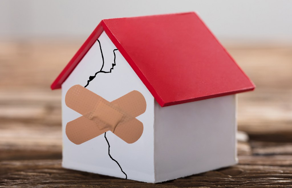 Compensation against damage caused to residence structure is provided in both insurance plans