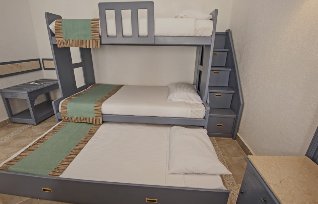 Bunk beds are perfect for sleeping up to 3 or kids in a single room