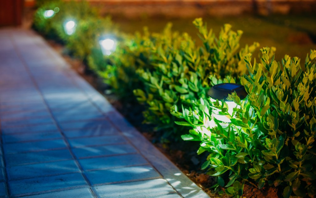 install new outdoor lighting in your living space