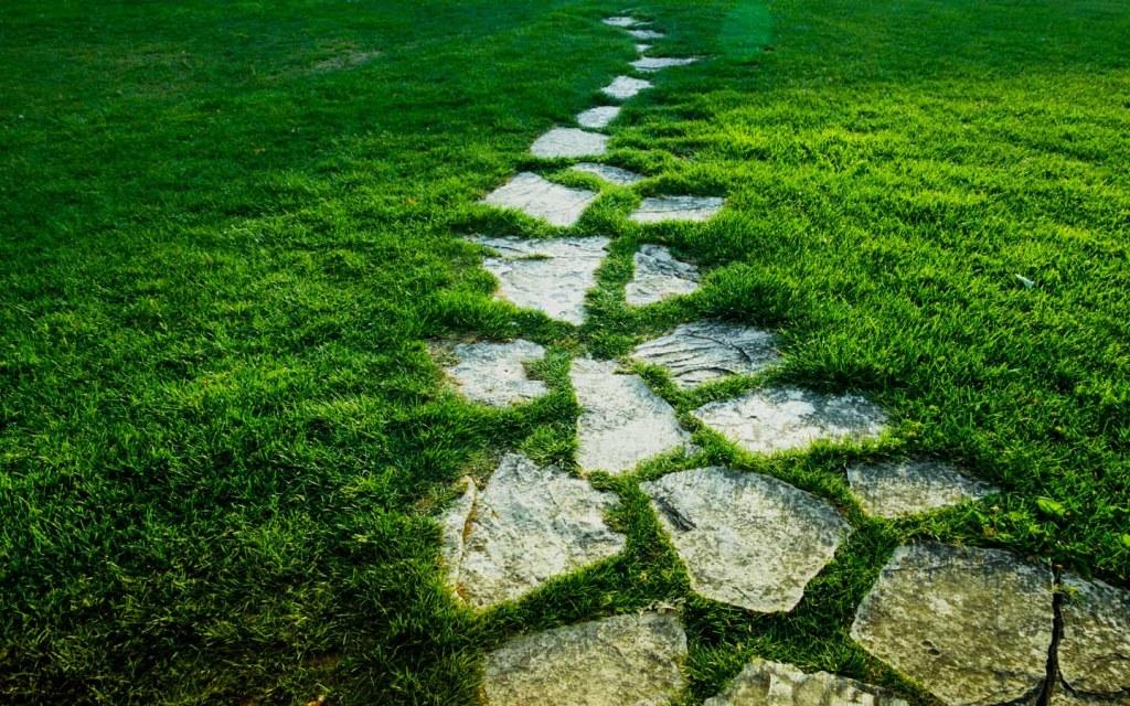 install stones in your garden as walkways