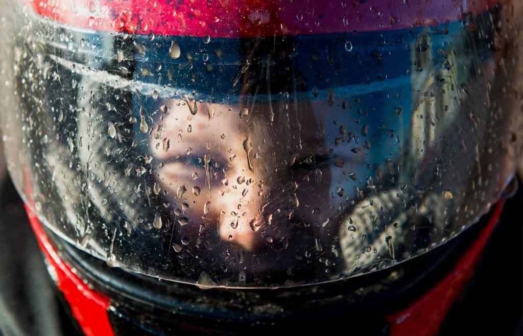 Visors help you drive safe in the rain