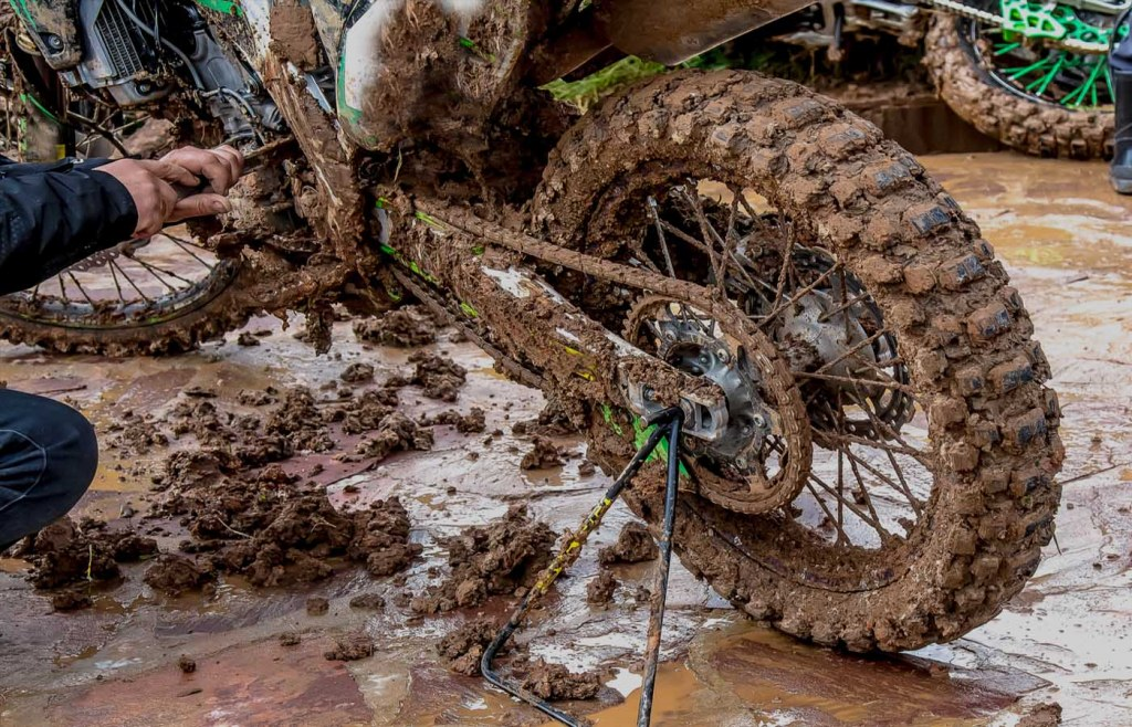 Clean the bike after riding your bike in the rain