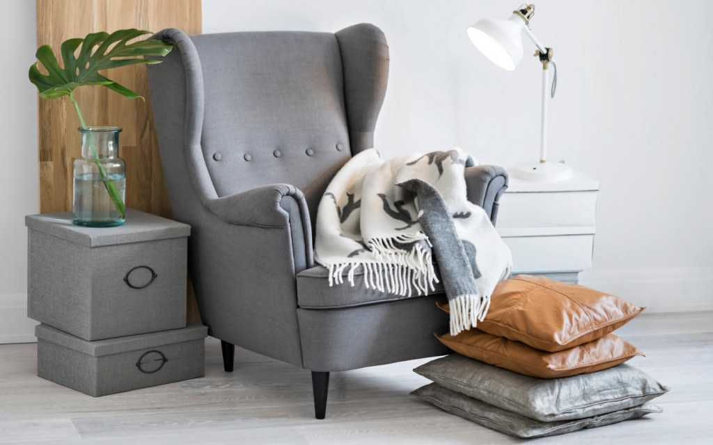 Utilise the old armchair for a reading corner