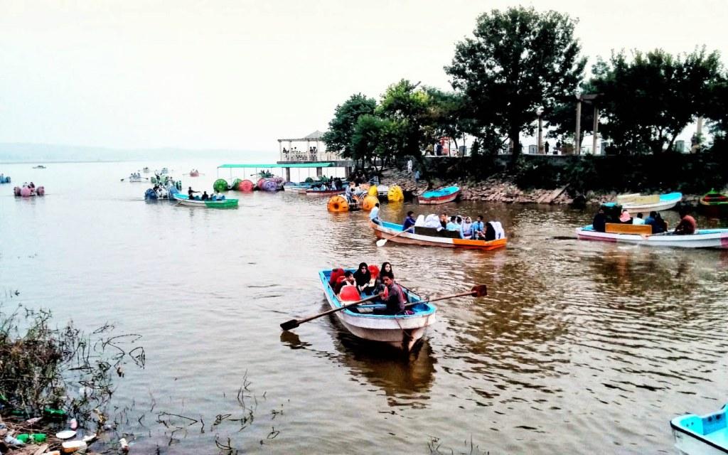 Boating and canoeing at Korang Lake