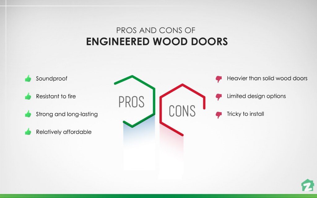 pros and cons of Engineered Wood Doors