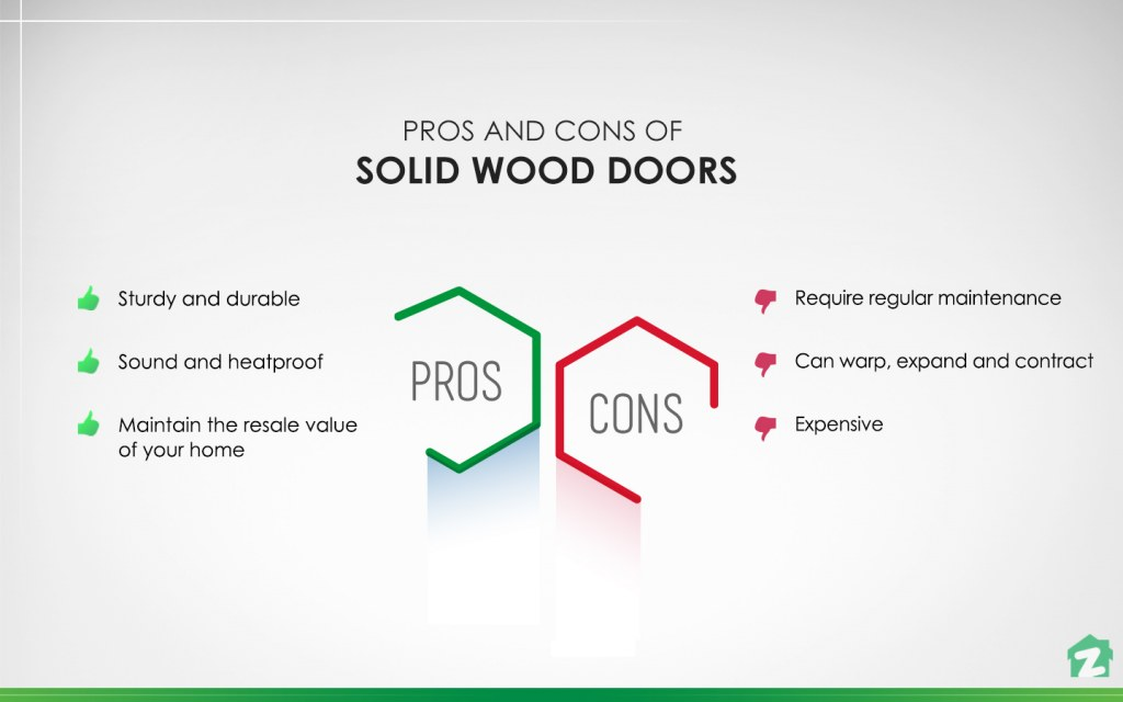 pros and cons of Solid Wood Doors