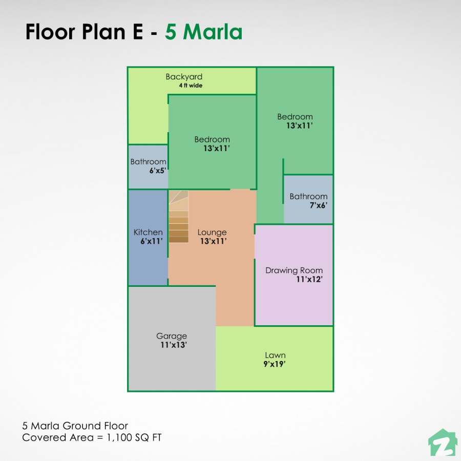 Best 5 Marla House Plans For Your New Home Zameen Blog