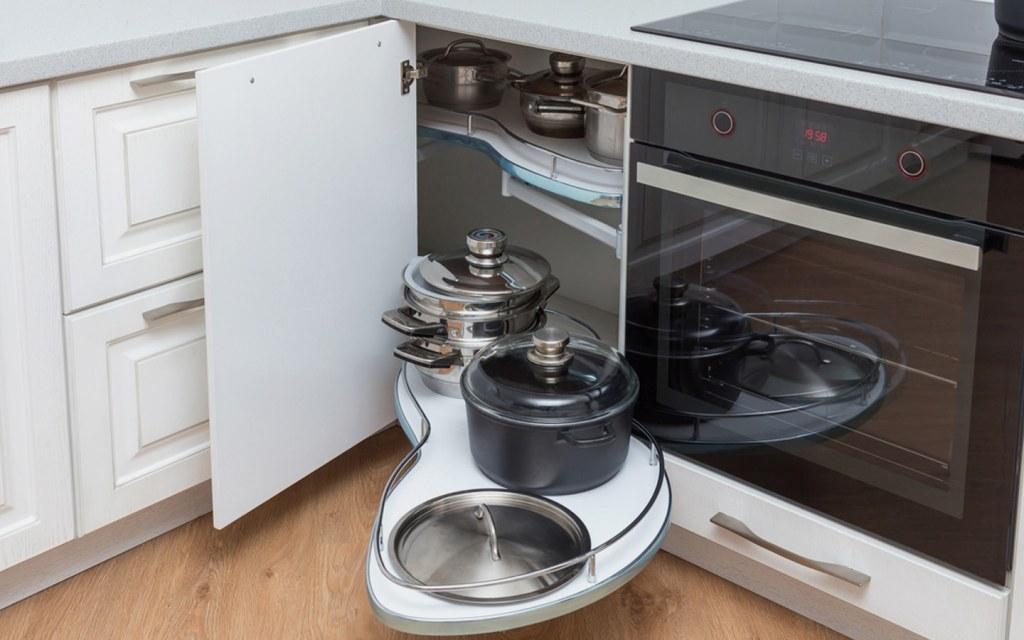 Corner Cabinets in Kitchen