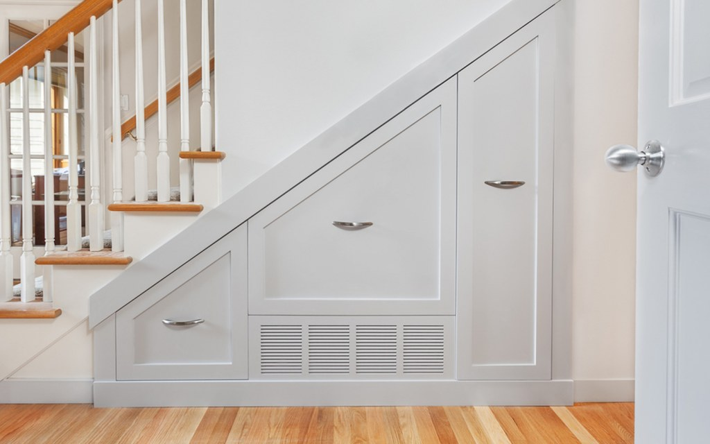 Storage space under the stairs