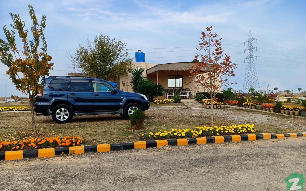 The site office of Gulberg Greens Islamabad