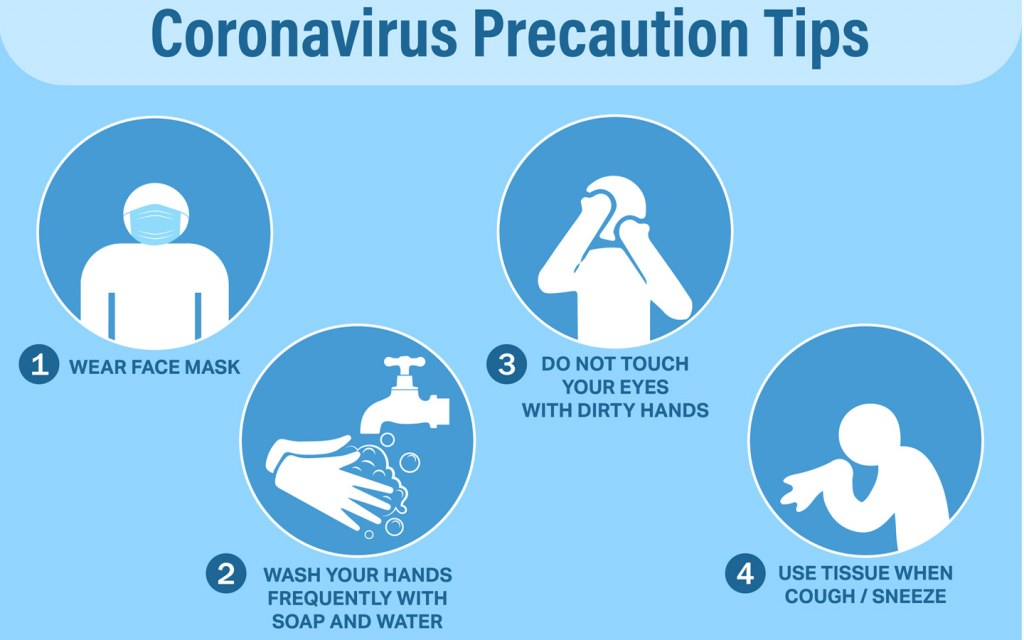 Precautions tips from Corona