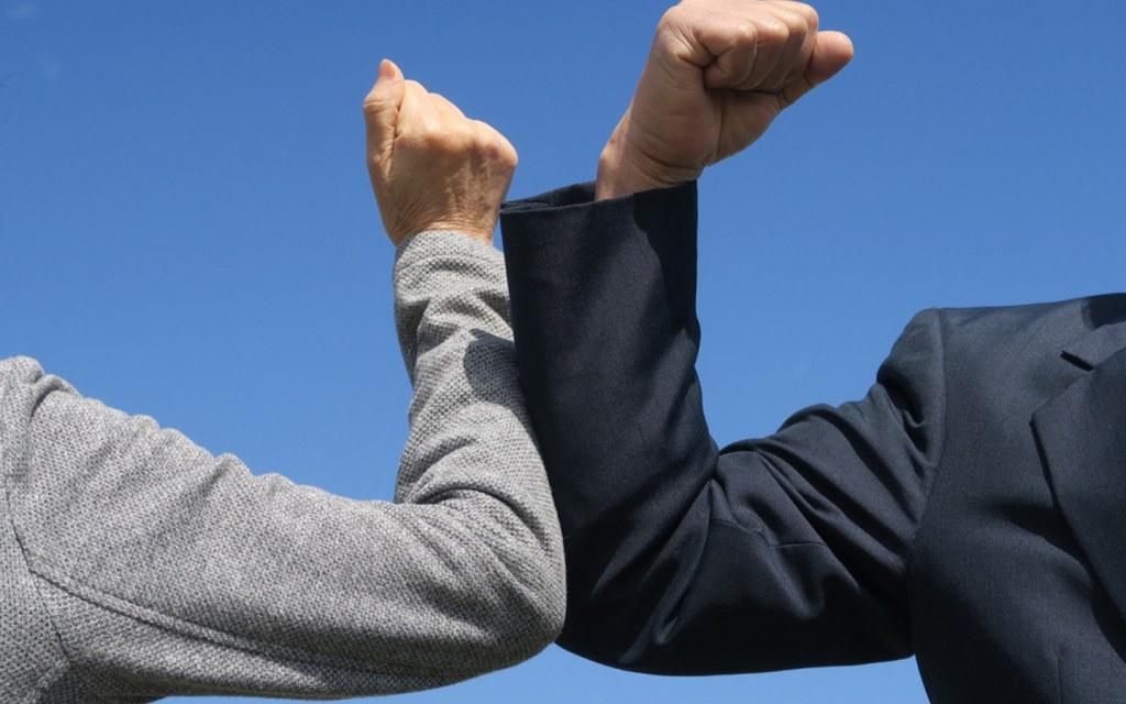 People have said goodbye to handshakes