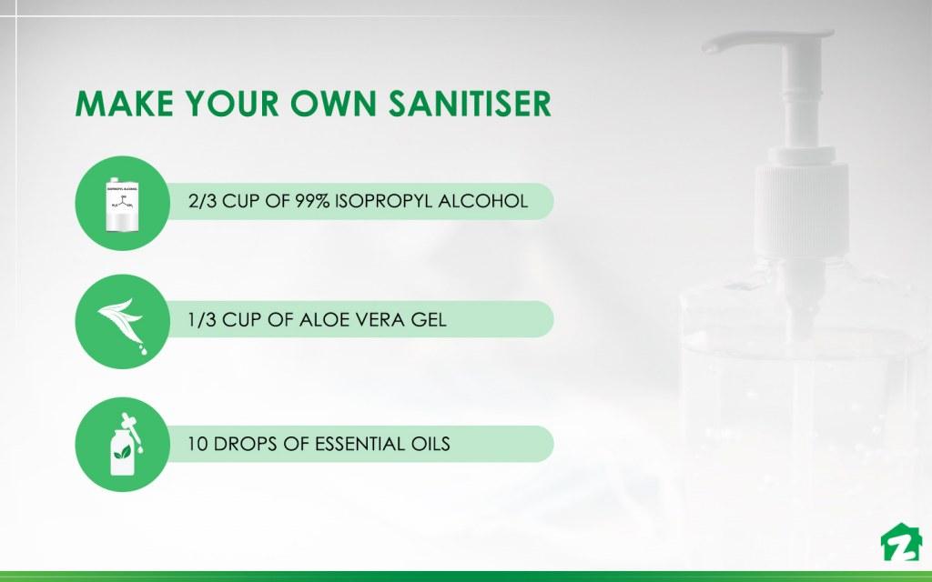 homemade hand sanitiser