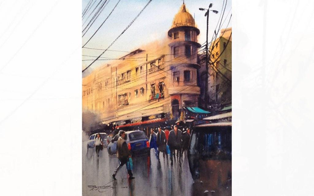 Karachi's Katrak Mansion's Artistic Impression