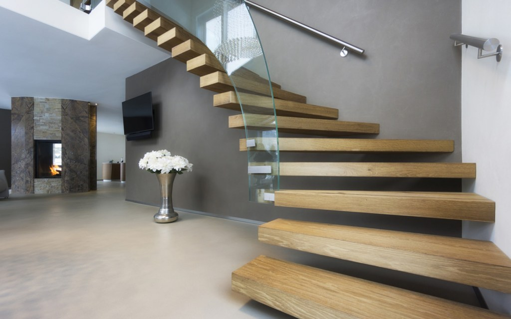 Curved Stairs are found in modern homes