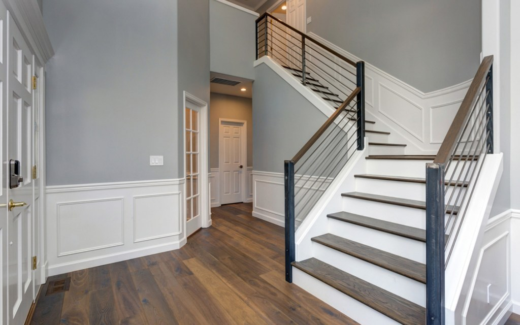 L-Shaped Stairs in corner