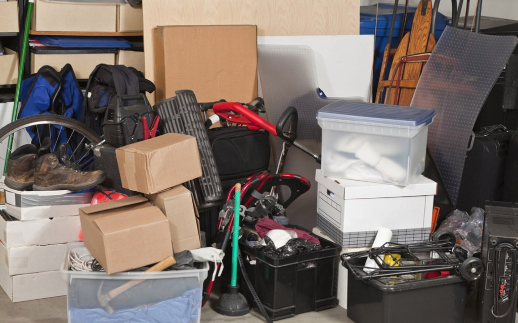Move packed boxes into the storage area