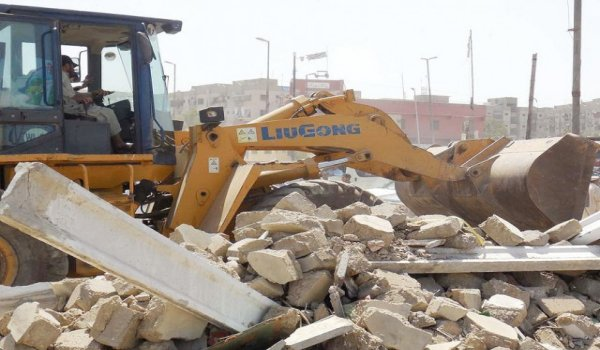 Encroachments razed around Quaidabad square