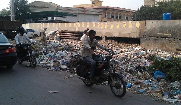 unhygienic condition of Karachi