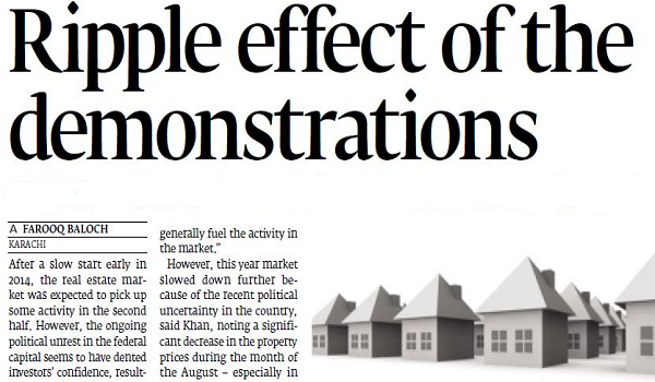 effect of demonstrations on property prices
