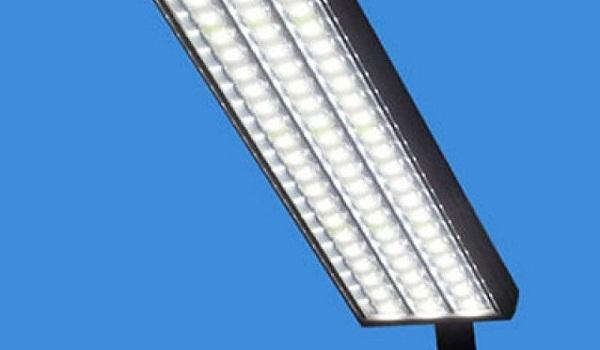 LED lights along metro bus route