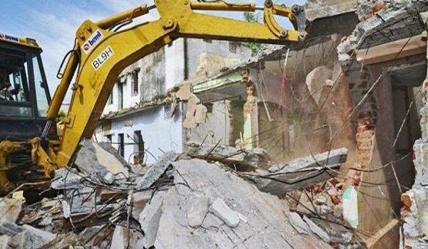 Illegal developments razed in Peshawar
