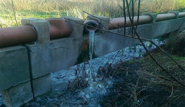 sewage flow goes unchecked