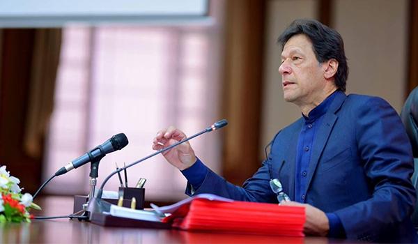 PM Imran Khan addressing an audience