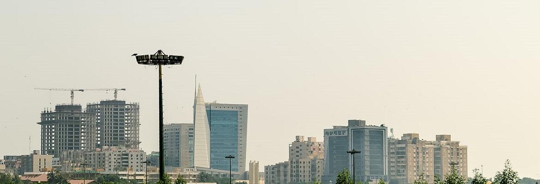 Karachi Skyline Over Clifton Area