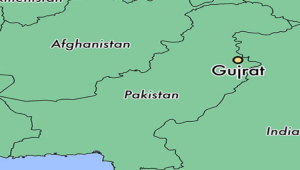 Gujrat on Pakistan map