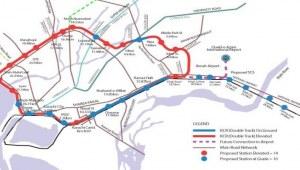 Karachi Circular Railway track map