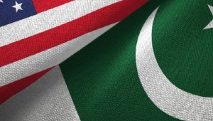 The Flags of Pakistan and United States